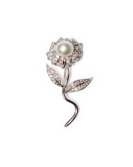 Ri Noor | White Pearl Flower Brooch | Lyst