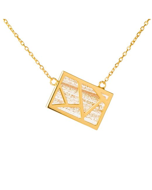 Ona Chan | Metallic Lattice Necklace Gold | Lyst