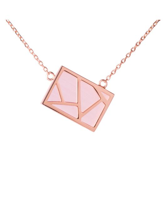 Ona Chan Jewelry | Lattice Necklace Pink | Lyst