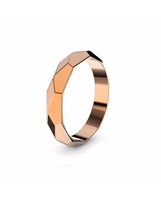 MARCELLO RICCIO | Metallic Faceted Rose Gold Plated Ring | Lyst