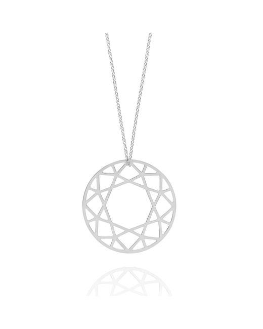 Myia Bonner - Metallic Large Silver Brilliant Diamond Necklace - Lyst