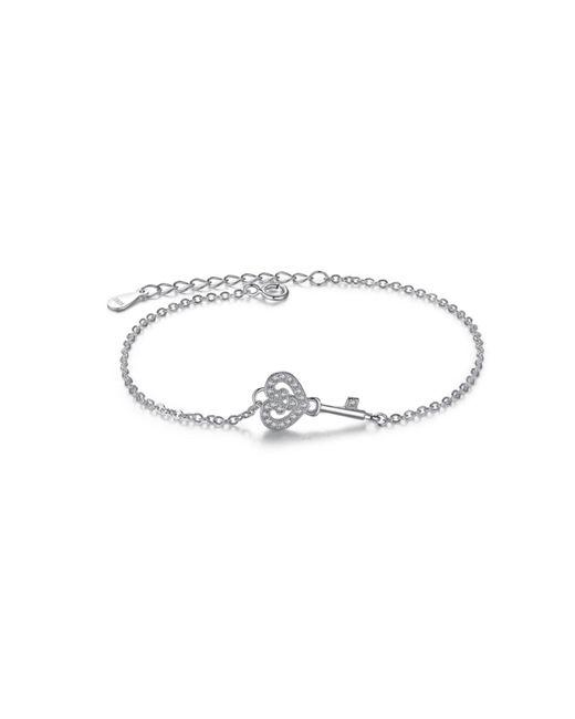 Opes Robur | Metallic Key Sterling Silver Charm Bracelet | Lyst