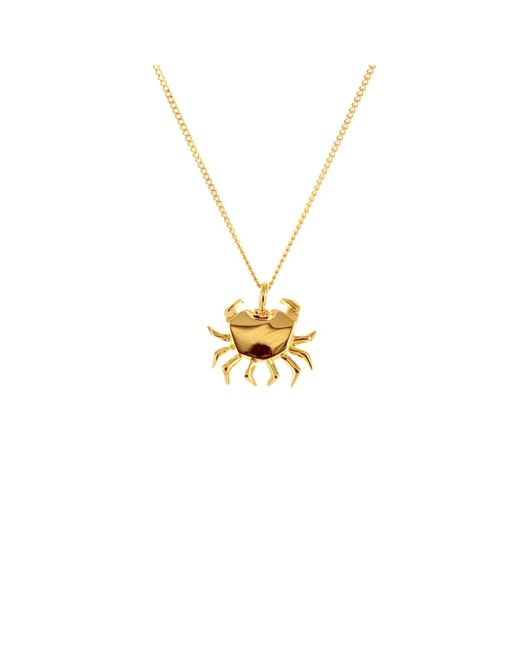 Origami Jewellery | Metallic Mini Crab Necklace Gold | Lyst