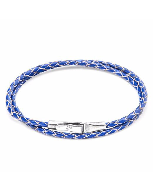Anchor & Crew | Royal Blue Liverpool Silver & Leather Bracelet for Men | Lyst