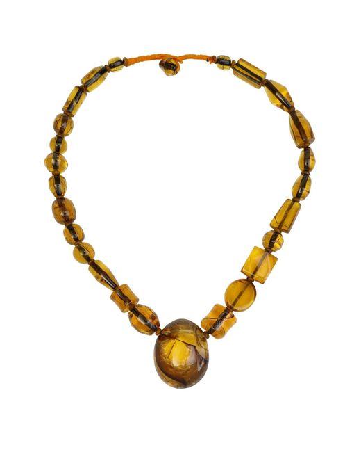 N'damus London | Metallic Amber Honey Chunky Beaded Necklace | Lyst