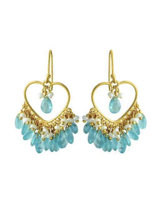 Carousel Jewels | Blue Apatite & Pearl Dangle Earrings | Lyst