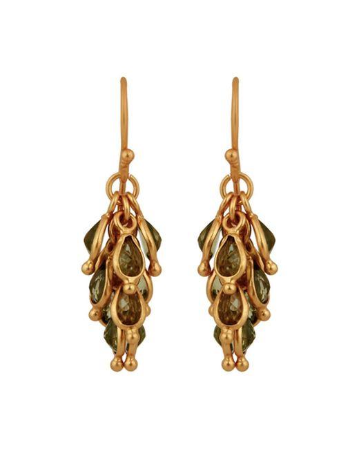 Carousel Jewels | Green Peridot Cluster Earrings | Lyst