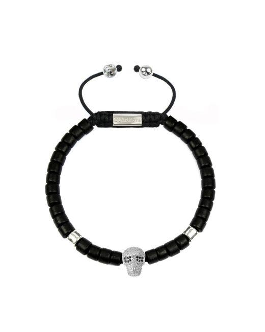CLARISTE JEWELRY   Men's Ceramic Bead Bracelet Black With Silver Skull for Men   Lyst