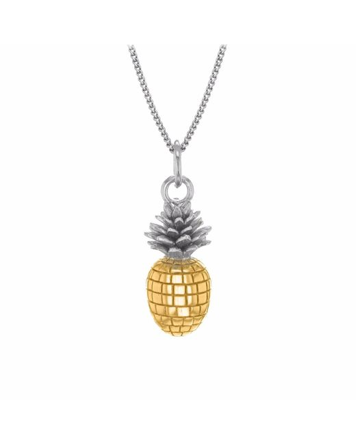True Rocks | Metallic Small Pineapple Two Tone Necklace | Lyst