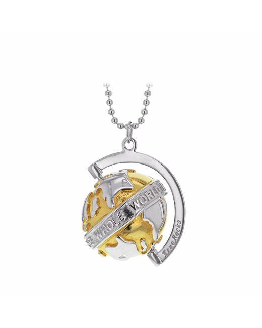 True Rocks | Metallic Small Globe Two Tone Necklace | Lyst