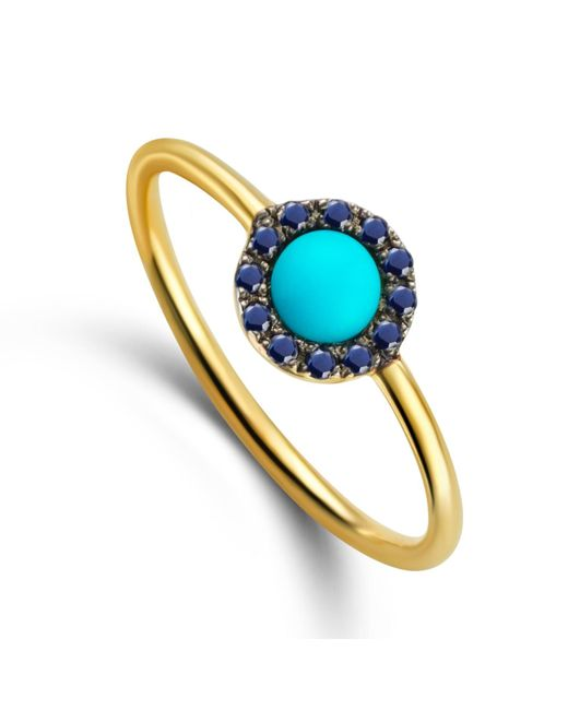 Elham and Issa Jewellery | Blue Awe Eye Sapphire Ring | Lyst