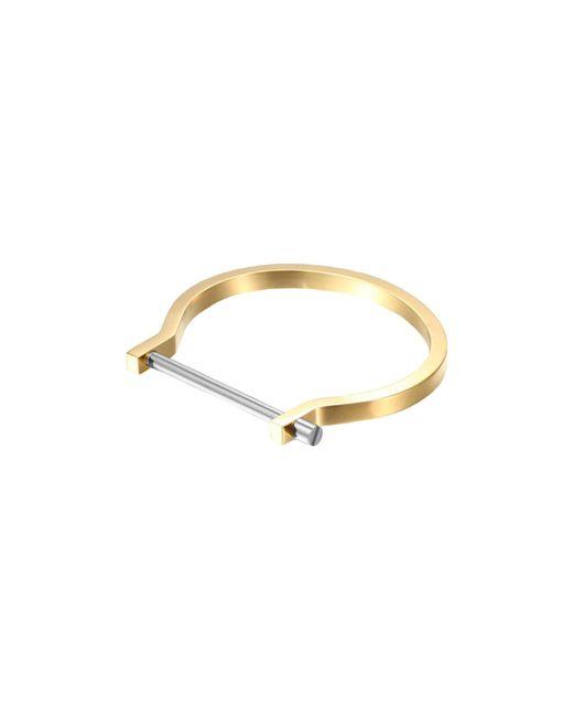 Opes Robur   Metallic Gold & Silver Classic Screw Cuff Bracelet   Lyst