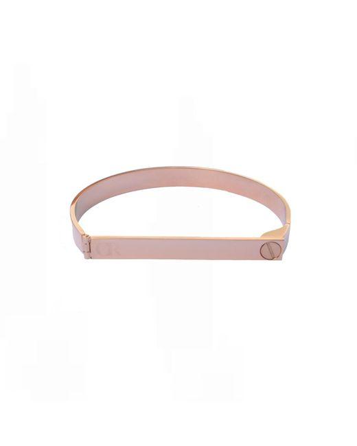 Opes Robur   Multicolor Rose Gold Screw On Love Bracelet   Lyst