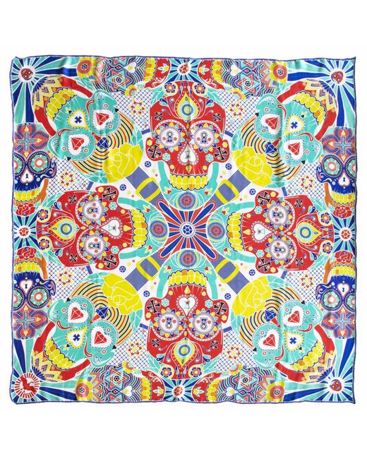 Furious Goose | Multicolor We Are All Going To Die Mexico Large Silk Scarf | Lyst