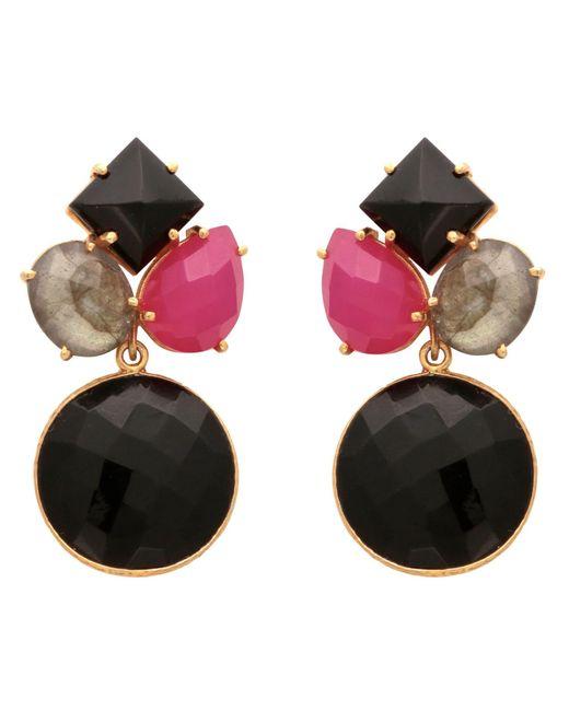 Carousel Jewels - Black Onyx Art Deco Round Drop Earrings - Lyst