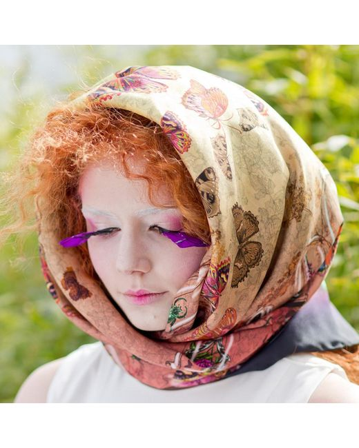 helen ruth entomology scarf 1 in pink lyst