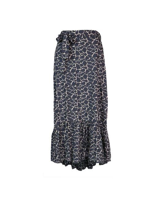 Aspiga Black Ana Lenzingtm Viscose Skirt