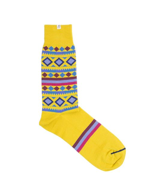 40 Colori - Metallic Gold Shapes & Stripes Organic Cotton Socks for Men - Lyst