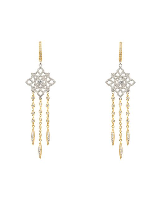 Latelita London Metallic Celtic Knot Diamond Dream Catcher Earrings Gold