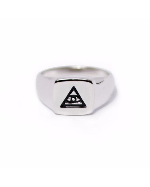 Serge Denimes - Metallic Silver All Seeing Ring for Men - Lyst
