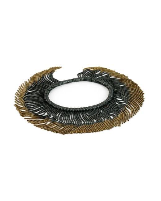 Cara Tonkin | Metallic Vesper Interchangeable Full Swing Bracelet Necklace Gold & Oxidised | Lyst
