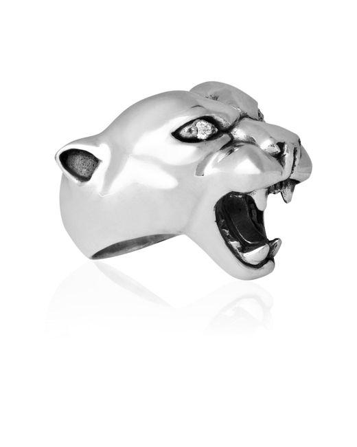 Strange Fruit   Metallic Panther Ring Silver With Diamond   Lyst