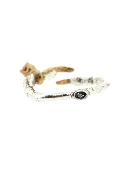 Tessa Metcalfe - Metallic Single Claw With An Opal Mini Ring - Lyst