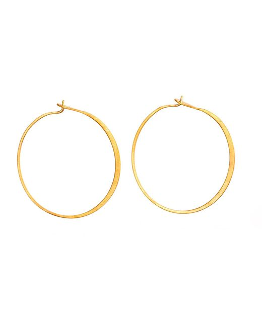 Dutch Basics | Metallic Fine Hoop Earrings | Lyst