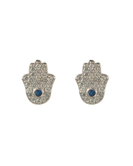 Latelita London | Metallic Hamsa Earring Silver | Lyst