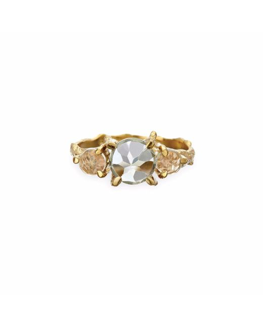 Chupi | Metallic Tiny Twinkle In The Wild Prasiolite Ring In Gold | Lyst