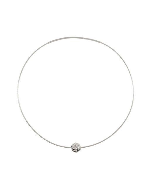 MARIE JUNETM Jewelry - Metallic Monkey Paw Knot Silver Necklace - Lyst
