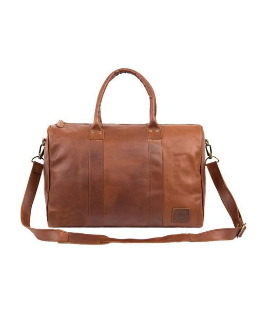 MAHI Leather - Leather Cortes Overnight Bag In Vintage Brown for Men - Lyst