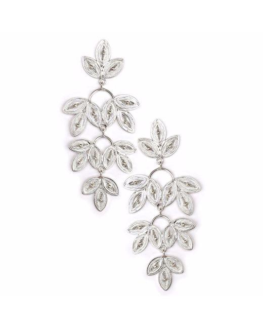 Kitik Jewelry - Metallic Takay Silver Earrings - Lyst