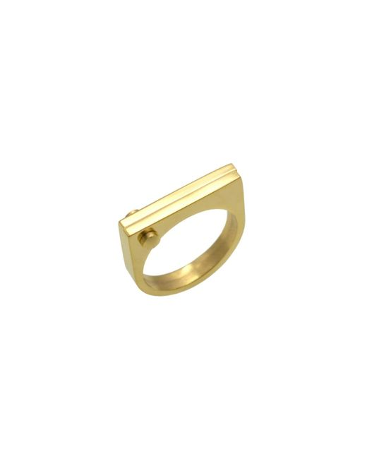Opes Robur - Metallic Gold D Ring - Lyst