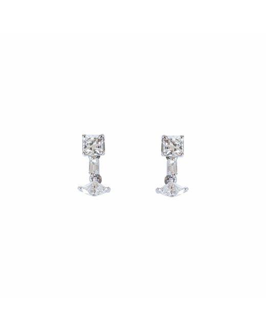 Ri Noor - Metallic Fancy Square Diamond Dangler Earrings - Lyst