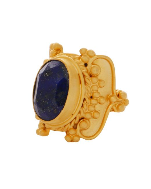 Carousel Jewels - Blue Intricate Lapis Cocktail Ring - Lyst
