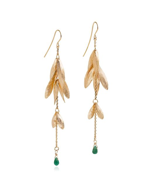 Catherine Zoraida - Metallic Ash & Aventurine Earrings - Lyst