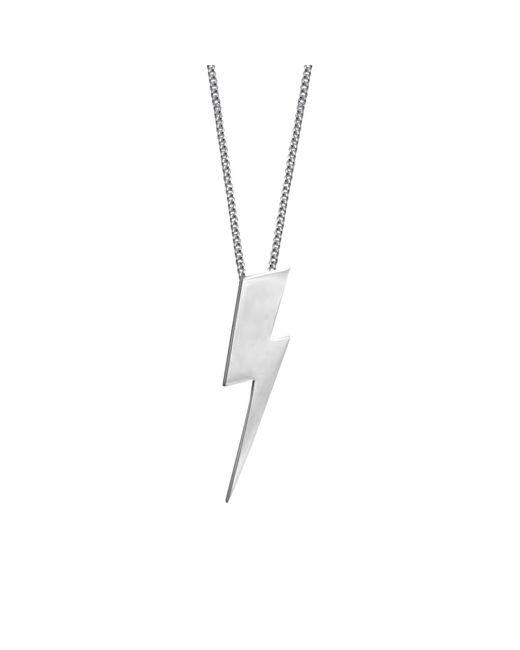 Edge Only Metallic Heart Pendant Silver