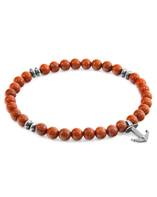 Anchor & Crew - Red Jasper Starboard Natural Stone Bracelet for Men - Lyst