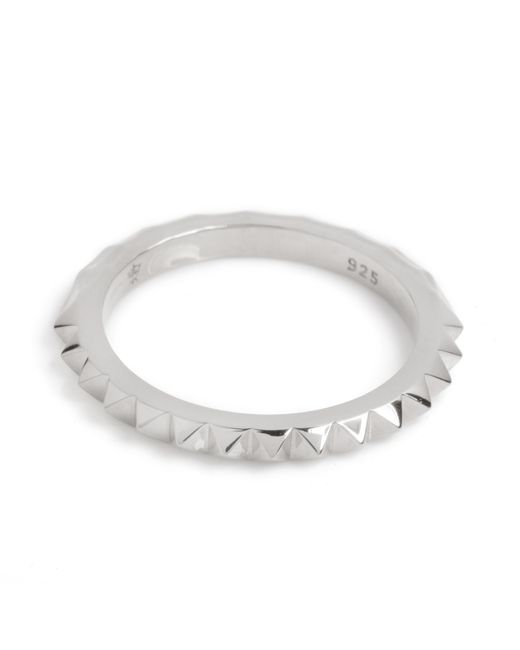 Kasun Metallic Crocodile Ring Silver