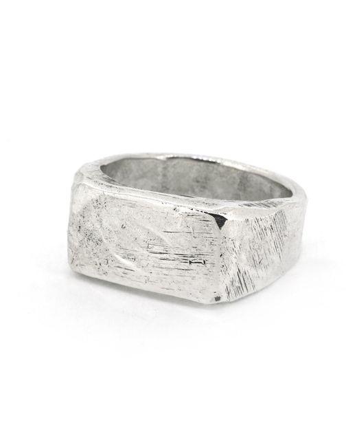 Frederick Grove Metallic Block Signet Ring for men