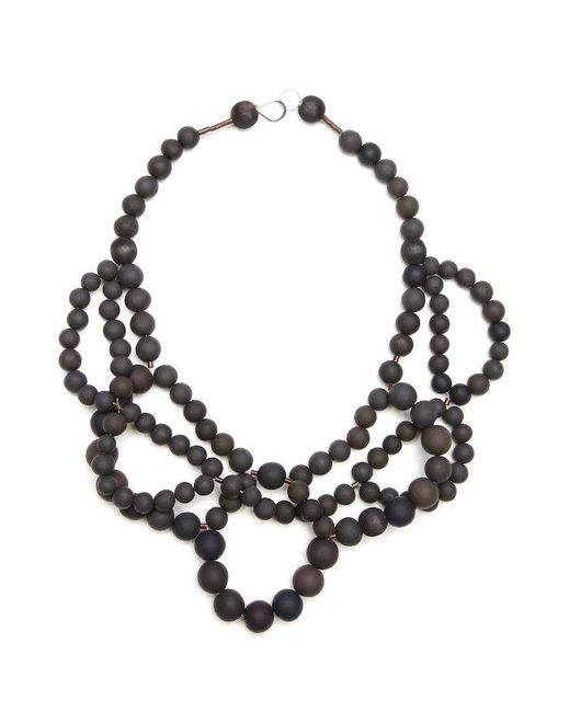 Hring Eftir Hring | Black Double Ballerina Necklace Coal | Lyst