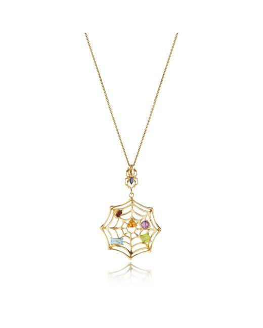 Manja | Metallic Anansi Necklace Gold | Lyst