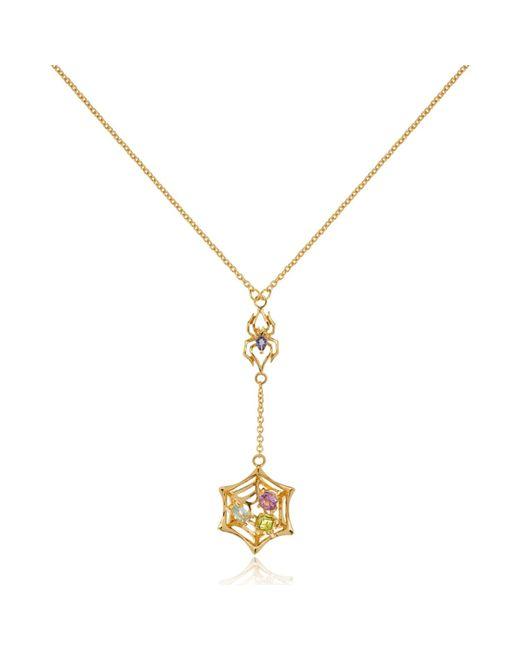 Manja   Metallic Anansi Small Necklace Gold   Lyst