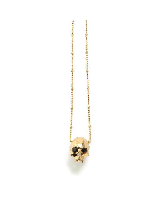 Kasun Metallic Jawless Vampire Skull Pendant Gold
