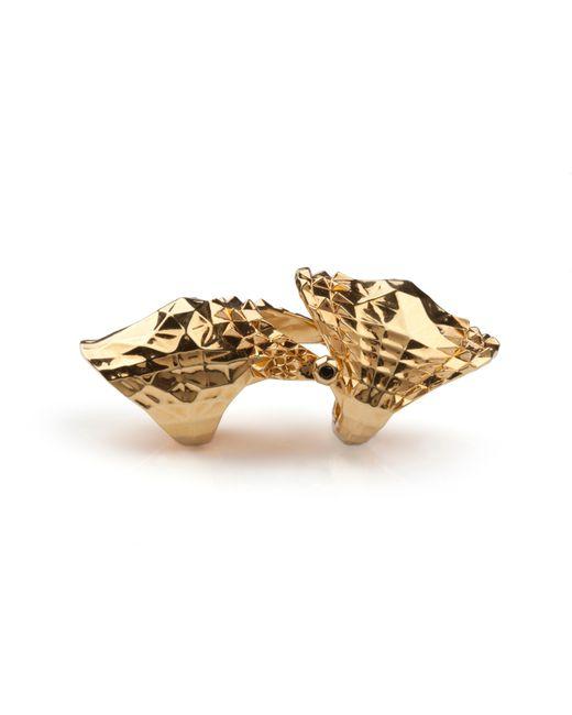 Kasun - Metallic Armour Ring Gold - Lyst
