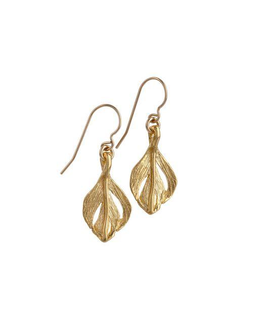Chupi | Metallic Tiny Swan Feather Earrings Gold | Lyst