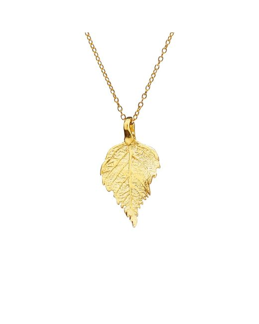 Chupi | Metallic The Sweetest Thing Tiny Raspberry Leaf Necklace Gold | Lyst