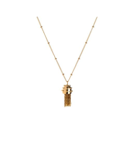 Nina Kastens Jewelry | Metallic Mini Tassel Necklace Gold | Lyst