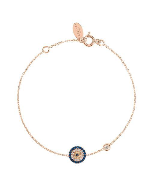 Latelita - Multicolor Evil Eye Bracelet Rosegold - Lyst